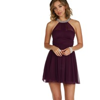 Kylie-plum Homecoming Dress
