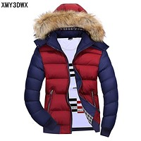New 2017 Brand winter warm Jacket for men hooded coats casual mens thick coat male slim casual cotton padded down outerwear