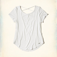 Girls Must-Have Strappy Open Back T-Shirt | Girls New Arrivals | HollisterCo.com