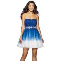 Bee Darlin' Ombre Strapless Tulle Dress at www.bostonstore.com