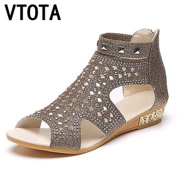 Sandals Women Casual Rome Summer Shoes Fashion Rivet Gladiator Sandals