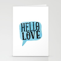 Hello Love Lettering Stationery Cards by Seven Roses