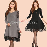 Plus Size Loose Long Sleeve Pregnant Lace Maternity Dresses Pregnancy Autumn Korean Clothing Clothes For Pregnant Women Wear = 1946862084