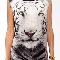 White Tiger Muscle Tee