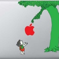 Color Giving Tree Decal - Vinyl Macbook / Laptop Decal Sticker Graphic