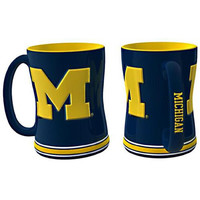 Michigan Wolverines NCAA Coffee Mug - 15oz Sculpted (Single Mug)