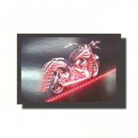 Neonetics Red Motorcycle Neon Poster Sign - Red Motorcycle Lighted Poster - All Wall Art - Wall Art & Coverings - Decor