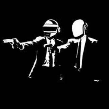 Min.order is $10(mix order)Exclusive Daft Punk stupid punk Pulp Fiction  Waterproof Personalized laptop skins stickers[Single]