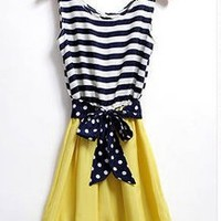Candy Color Dress with Striped Top! from Oh My! Fashion