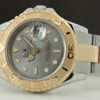 ROLEX - Ladies 18kt Gold & Stainless YachtMaster Silver Dial - 169623 SANT BLANC