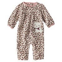 Just One You® made by Carter's Infant Girls' Microfleece Jumpsuit - Cream/Pink