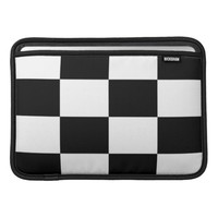 Black And White Squared Mac Airbook Sleeve