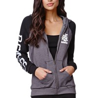 Young & Reckless Concrete Zip Hoodie - Womens Hoodie - Black