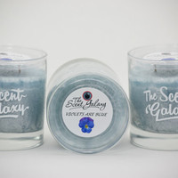 Violets Are Blue Fragrance in Palm Wax , Highly Scented Candle