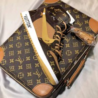 Nike Air Jordan 1 x OFF-WHITE x LOUIS VUITTON AJ1 x OW x LV With OG Box - Best Deal Online
