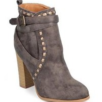 Bonnie- Ankle boots Gray distressed faux suede