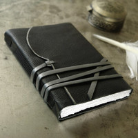 Little Black Book - Small Leather Journal, Notebook, Diary, Black Leather Journal