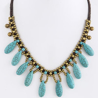 Bria Turquoise Strand Necklace