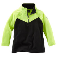 Neon Mock-Neck Performance Pullover