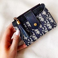 Onewel Dior Multifunction Wallet-Card Holder-Beautiful Color-Super Multi Card Dark Blue