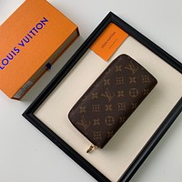 LV Louis Vuitton MONOGRAM CANVAS DOUBLE ZIPPY WALLET