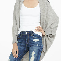Marl Long Sleeve Cocoon Cover-up from EXPRESS