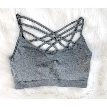 Padded Caged Bralette - H Grey