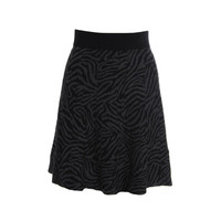 Alfani Womens Petites Pattern Knee-Length Knit Skirt