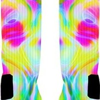 Color Run Custom Nike Elite Socks (Large 8-12)