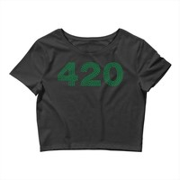 marijuana 420 Crop Top