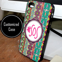 5 second of summer aztec chevron 5 sos Customized case for iPhone 4/4S iPhone 5/5S/5C and Samsung Galaxy S3/S4