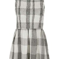 Strappy Check Playsuit
