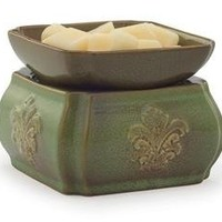 Candle Warmer and Dish, Spring Damask