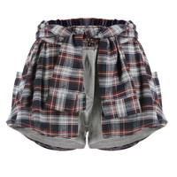 Culotte Shorts in Check Print