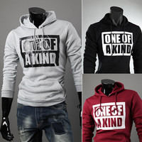 Alphabet Print 3-color Men Hoodies Korean Slim Hats Jacket [6528648067]
