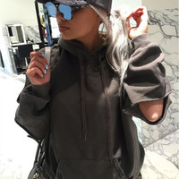 Women's Fashion Fashion Ripped Holes Hats Hoodies [9475977860]