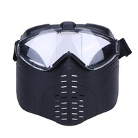 Protective Tactical Half Mask For Paintball with Goggles