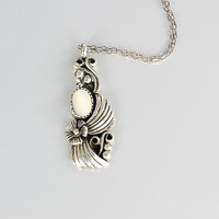 Vintage Navajo Sterling silver Necklace, Mother of Pearl Necklace, Flower Southwestern Southwest jewelry