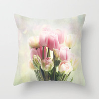 tulip bouquet Throw Pillow by Sylvia Cook Photography   Society6