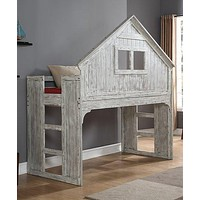 Ethan Distressed Tree House Loft Bed