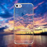 Beautiful Lake River Waterfront Purple Clouds Scenery Transparent Soft TPU Crystal Phone Cover Case Shell For Apple iPhone 6 6s