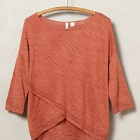 Crossed Pointelle Pullover by Moth