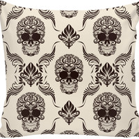 Skull and Flourishes Pillow