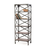 "Eclipse Home Collection Crossed Back Bookshelf 24"" L  x 14.25"" W  x 65"" H"