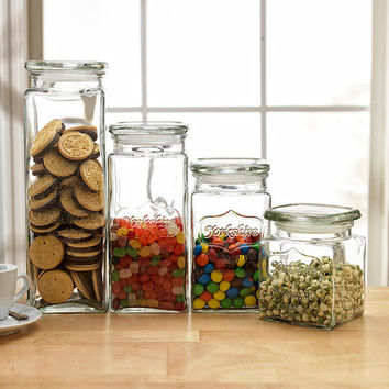 Yorkshire Glass Canister Set