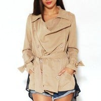 Chiffon Back Trench Jacket