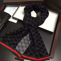 GUCCI Fashion Men Women Letter Print Cashmere Scarf Scarves Shawl Accessories I-TMWJ-XDH