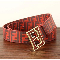 Fendi Trending Hot Sale Women Men F Mark Belt Print Belt