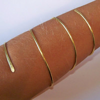 NEW Gold Armlet - Coiled Armlet - LOWER ARM Brass Armband - Brass Armband - Arm Cuff Torc - Brass Armlet - Made to Order