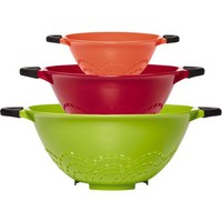 Farberware Soft Grip Set of 3 Colanders, Assorted Colors - Walmart.com